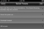 These are your saved tweets that you can use at any time. Notice the Edit button at the top right corner.